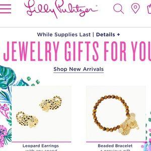 GWP Leopard earrings and bracelet